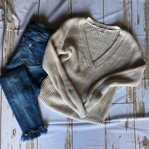 Cream chunky sweater